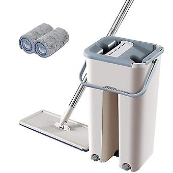 Floor Mop set automata vödör kerülje kézmosás mikroszálas tisztító kendő