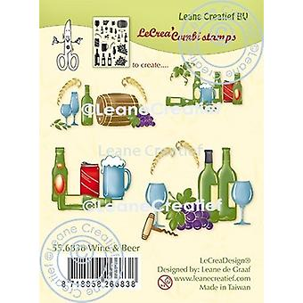 Leane Creatief Wine & Beer Clear Stamps