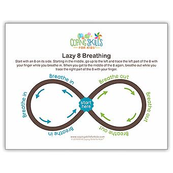 "Lazy Eight Deep Breathing Poster, 11"" X 17"""