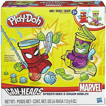 Play-doh marvel can-heads spider-man and green goblin