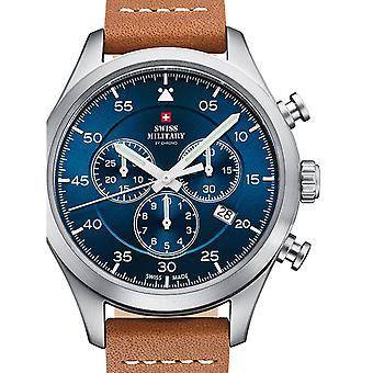 Reloj masculino militar suizo por Chrono SM34076.06, cuarzo, 43 mm, 10ATM