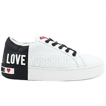 Kvinnors Kärlek Moschino Vit och Svart Sneaker