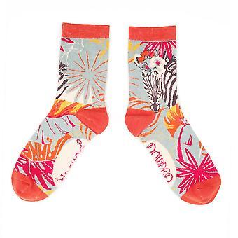 Powder Women's Ankle Socks | Floral Zebra