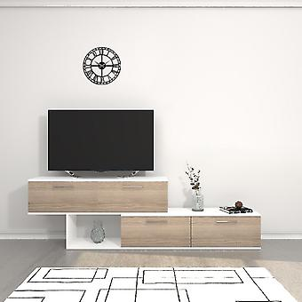 Mobile Door TV Antipodes Color White, Cordoba w płyta wiórowa Melaminico, L200xP30xA60