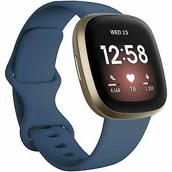 "pour Fitbit Versa 3 / Sense Replacement Strap Silicone Band Bracelet Wrist[Large Fits Wrist 7.2"" - 8.7"",Blue]"
