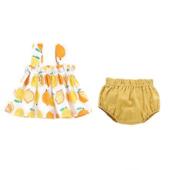 Baby Girl Sleeveless Camisole Top And Bubble Shorts Sets 2 Piece Summer Outfits