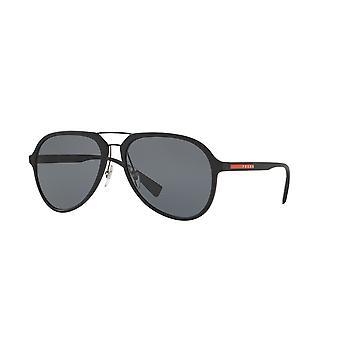 Prada Sport Linea Rossa SPS05R DG0/0A7 Black Rubber/Grey Gradient Sunglasses