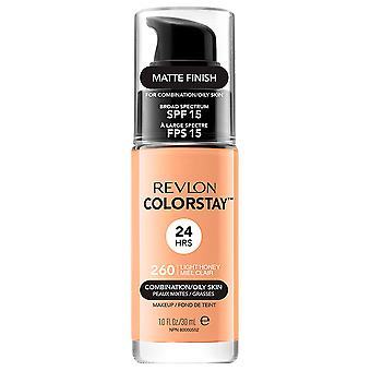 Revlon Colorstay Foundation Oily Mixed Skin 260 Light Honey