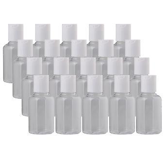20 piezas 50ml botellas vacías de envases líquidos de maquillaje con tapa de volteo