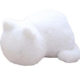Solid Cat-shaped Plush Pillow