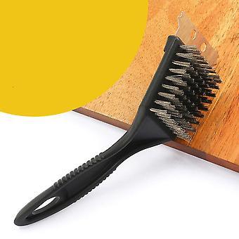 Cepillo de limpieza de cerdas de alambre para la limpieza de barbacoas y parrillas