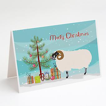 الاسكتلندي أسود الوجه الأغنام بطاقات المعايدة عيد الميلاد وحزمة مغلفات من 8