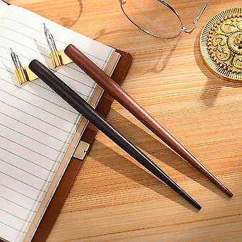 Wood Manga Calligraphy Dip Pen Holder With 6 Nibs Set For Lettering Skiching
