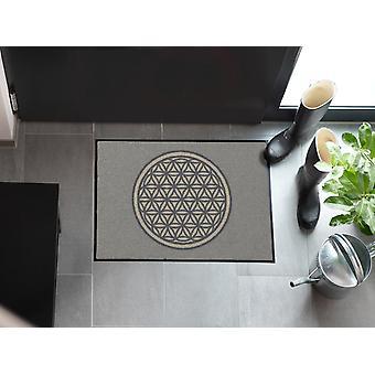 Salonloewe Doormat Flower of Life Pure 50 x 75 cm tvättbart skoställ
