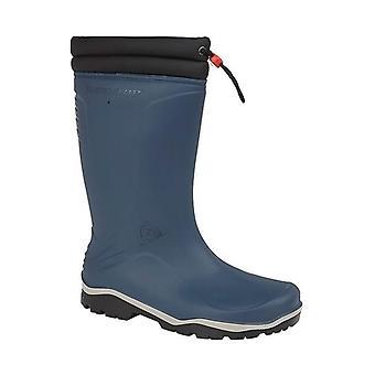 Dunlop Blizzard Unisex Warm Lined Wellington Boots Blue