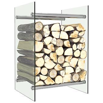 vidaXL Brennholzregal Transparent 40 x 35 x 60 cm Glas