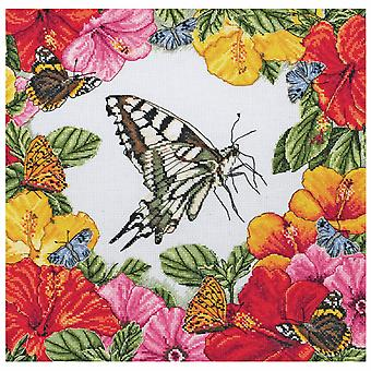 Anchor Counted Cross Stitch Kit: Maia Collection: Spring Butterflies