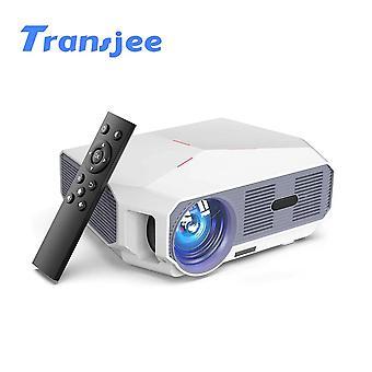 Unterstützung 1080P 4K Mini Projektor LED HD (Weiß)