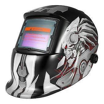 Professional Solar Energy Auto Darkening Welding Helmet Welding Welder TIG MIG Grinding Mask Robot Style