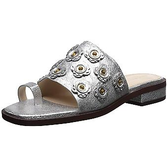 Cole Haan Womens Carly Leather Peep Toe Casual Slide Sandals