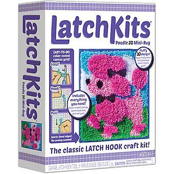 Latchkits Poodle 3-D Mini Tappeto Latch Hook Craft Kit USA import