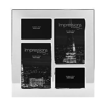 Impressiteet Nikkelipinnoitettu valokuvakehys 4 aukkoja   4 X 2,5