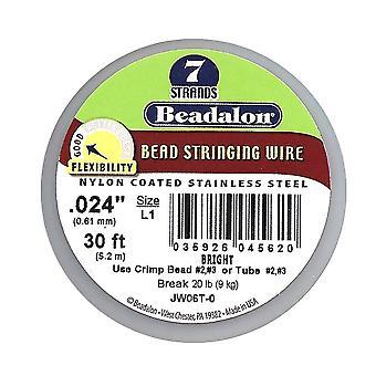 Beadalon Wire Standard Bright 7 Strand .024 Tum / 30Ft