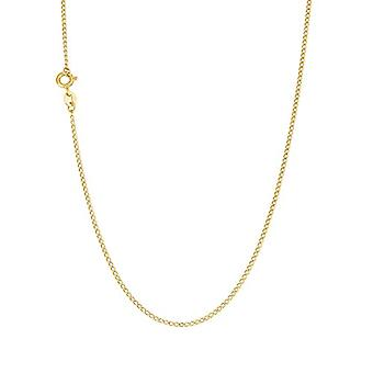 アモール - コリアーユニセックス イエローゴールド375、ニットひげ、45 cm