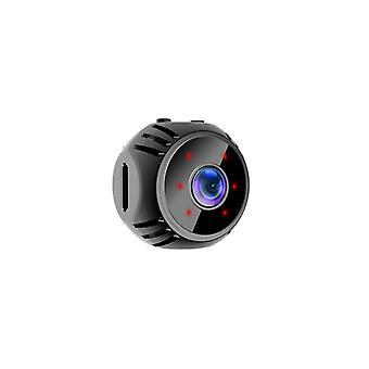 Wiederaufladbare Multi-Plattform Wireless Webcams HD 1080P 360 ° 60 ° Weitwinkel WiFi IP Nachtsicht Alarm 2in1 Mini Kamera (Schwarz)