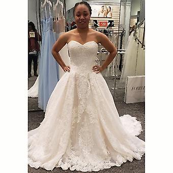 أنيقة بسيطة فستان الزفاف الدانتيل