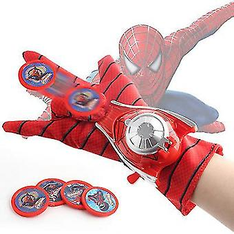 Red the season toys kids superhero magic gloves with wrist ejection launcher x7179