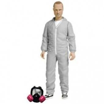 Mezco Breaking Bad Jesse Pinkman White Hazmat Suit Action Figure