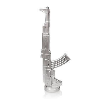 Hopeinen Kalashnikov kynttilä