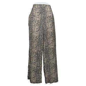 Jessica Simpson Women's Pants Saydee Printed Wide-Leg Soft Beige 689148