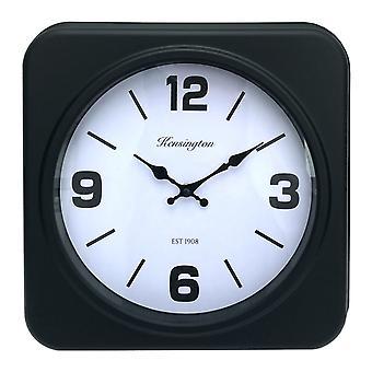 Reloj negro cuadrado
