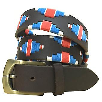 Carlos Díaz cinturón de cuero marrón awo02117