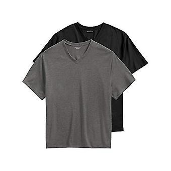 Essentials Herren Big & Tall 2-Pack Kurzarm-T-Shirt mit V-Ausschnitt Passform von DXL