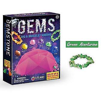 Kituri de săpături arheologice pentru copii - Kit colorat de fabricare a brățărilor minerale naturale, amuzant