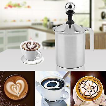 400cc Edelstahl Milchaufschäumer Double Mesh Foamer Diy Fancy Kaffeecreme