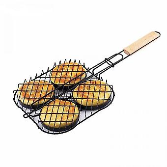 Tragbare Barbecue Grill Outdoor Anti-Stick Fisch Hamburger Bbq Tong Barbecue Zubehör