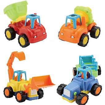 4 Pack Push And Go Construction Vehicles