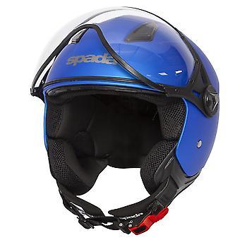 Spada Hellion Bright Open Face Motorsykkel Hjelm Blå