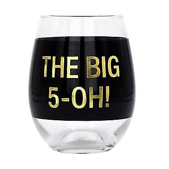 Say What Wine Glass (Black)
