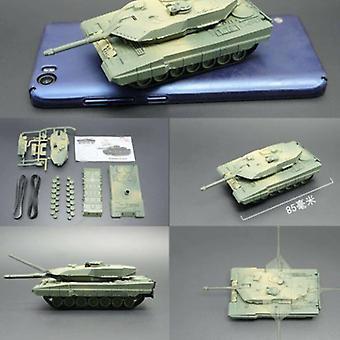 UAINCUBE Leopard 2A5 Build Kit 1:72 Scale Model - German Army Tank Plastic Hobby DIY Model