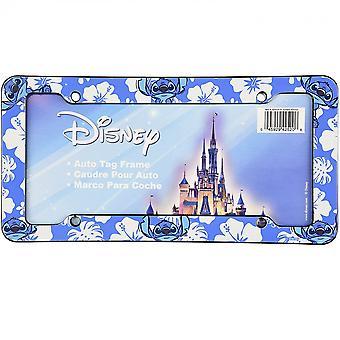 Disney Lilo & Stitch Stitch Stitch Hibiskus Blå registreringsskylt ram