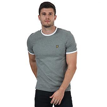Men's Lyle And Scott Ringer T-Shirt in Grey