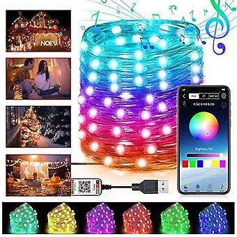 5M/10m/20m bluetooth app rgb led christmas string light music mode usb tree decorative lamp dc5v christmas decorations clearance christmas lights