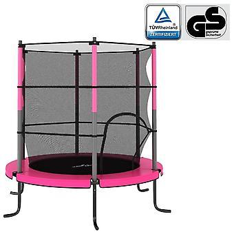 Trampolína s bezpečnostní sítí Round Pink Venkovní play vybavení Zahrada