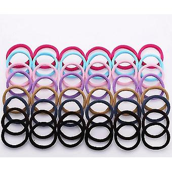 50 Stykker diverse sæt af 4cm farverige nylon elastiske hårbånd til alle hårtyper (Light)