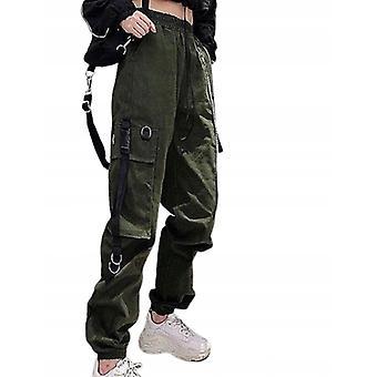 Rock Punk Goth nadrág zöld cargo nadrág S M L Xl